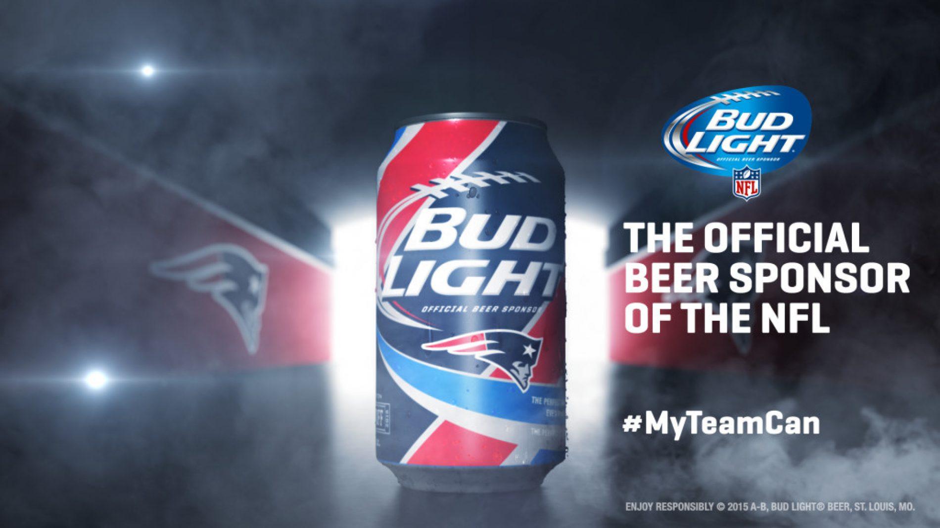 Des canettes Bud Light aux couleurs des franchises NFL
