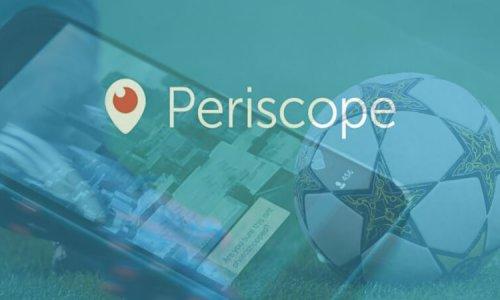 Periscope et la gestion d'image des footballeurs