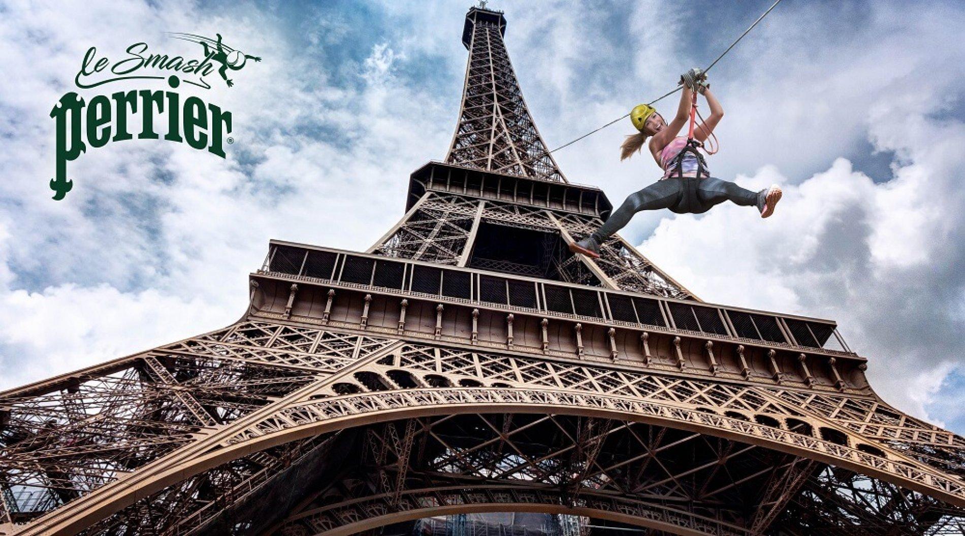 #SMASHPERRIER vous fait voler depuis la Tour Eiffel!