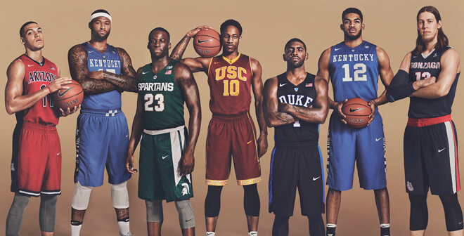 Équipementiers sportifs de la March Madness NCAA de basketball