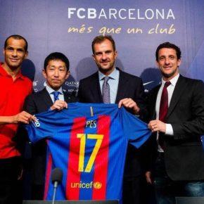 Partenariat entre le FC Barcelone et KONAMI pour PES