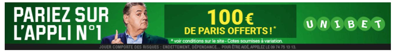Bonus d'inscription 100€ Unibet
