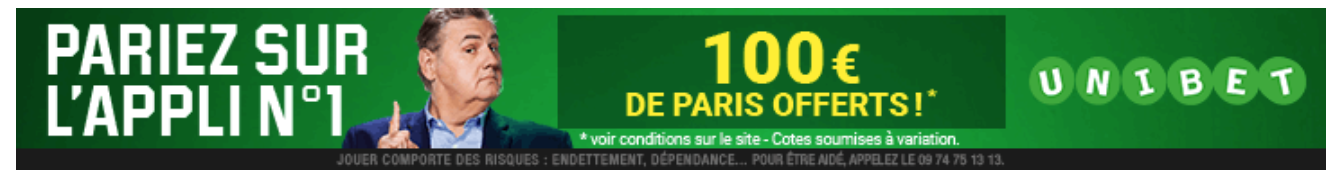 Bonus d'inscription 100€ Unibet