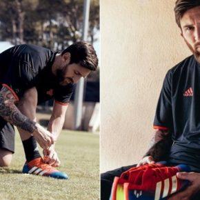 Les chaussures adidas de Messi aux couleurs du Barça