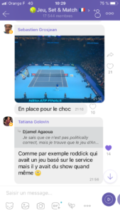 Coupe Davis sur Rakuten Viber