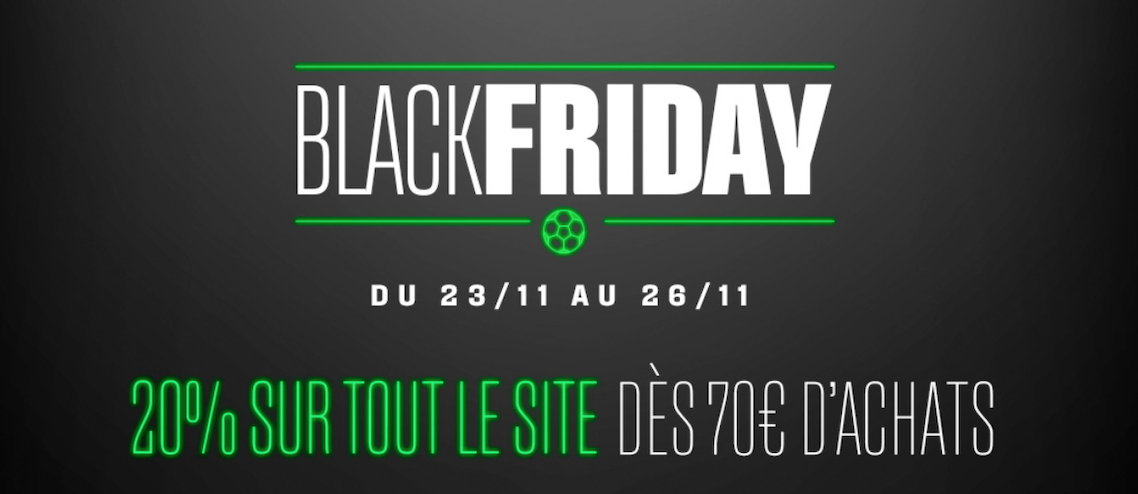 promotions sur les maillots de football pour le Black Friday