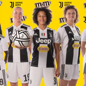 M&M's sponsor maillot de l'équipe féminine de la Juventus !