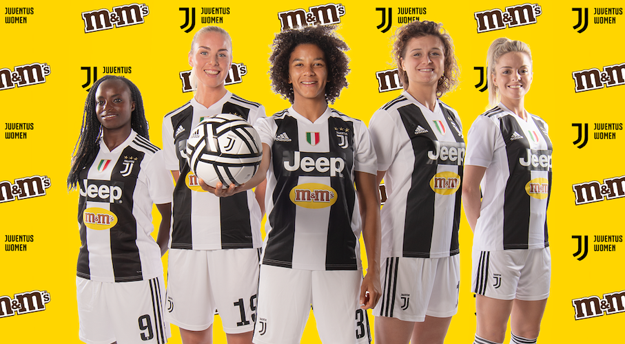 M&M's sponsor maillot de l'équipe féminine de la Juventus