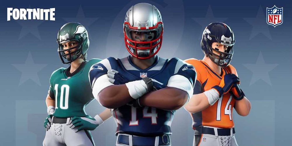 uniformes NFL sur Fortnite