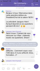 Chat Eyrault OM sur Viber