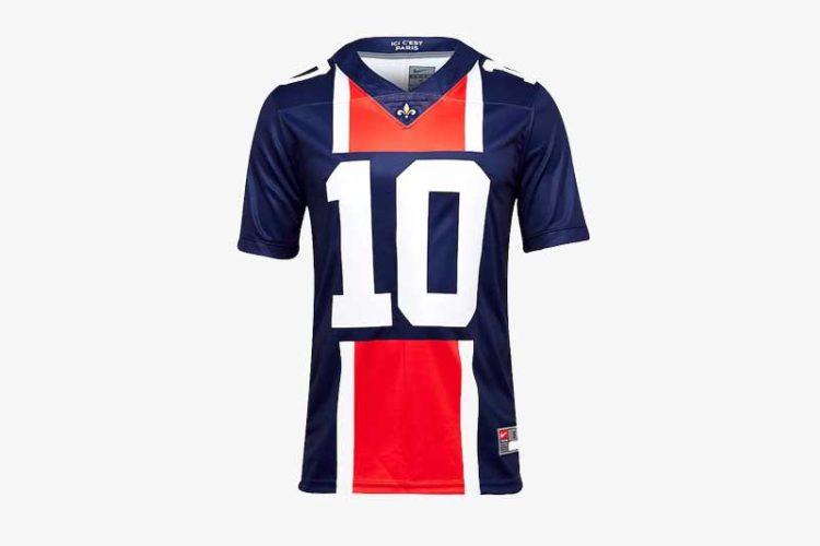 maillot de football américain aux couleurs du PSG