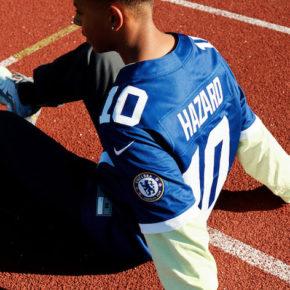 maillots de football américain aux couleurs de Chelsea