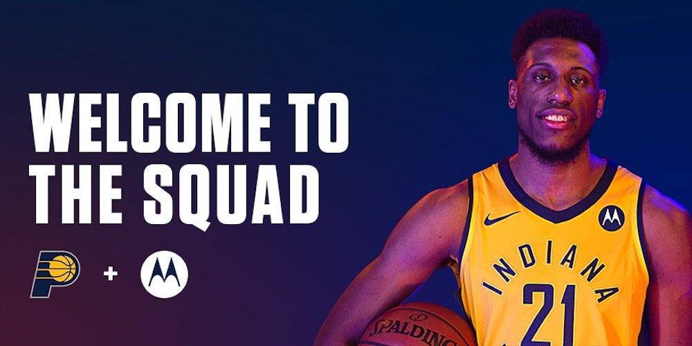 Motorola sponsor maillot NBA