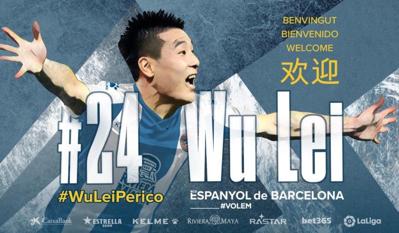 Wu Lei chinois Espanyol Barcelone