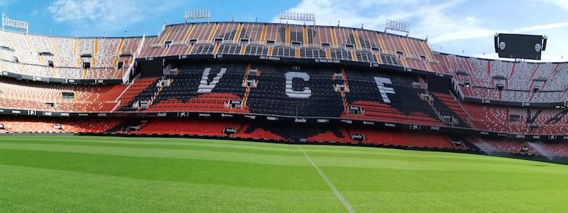 Visite du stade de Mestalla de Valence