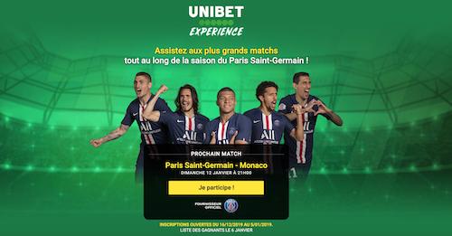 Unibet sponsor du PSG