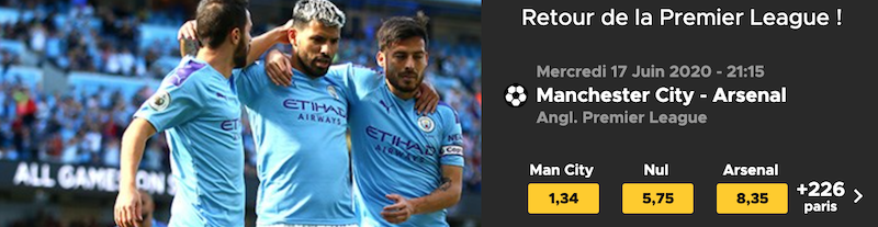 Cotes Manchester City - Arsenal