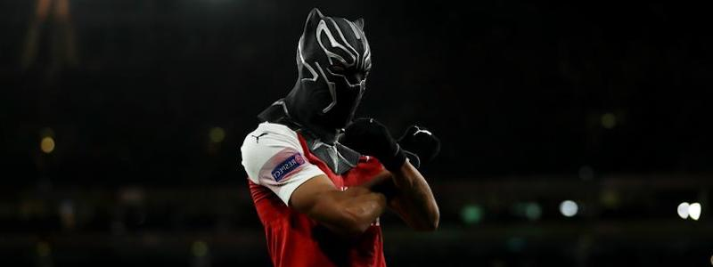 Aubameyang masque Black Panther