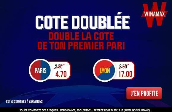 Cotes doublées Winamax sur la Ligue des Champions 2020