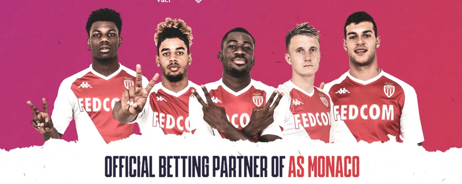 Bookmaker Vbet sponsor AS Monaco