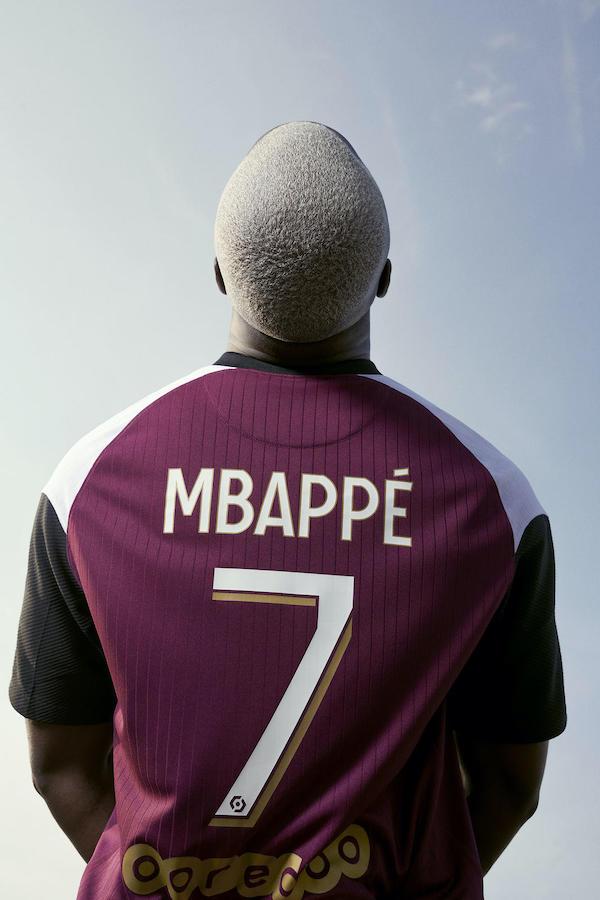 Maillot third PSG Jordan Mbappé