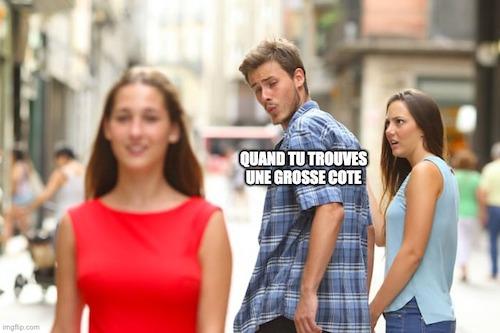 Grosse cote paris sportifs meme