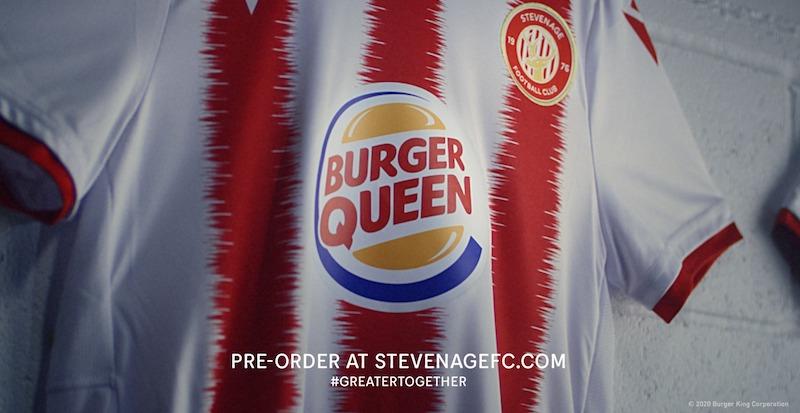 Maillot Burger Queen Stevenage