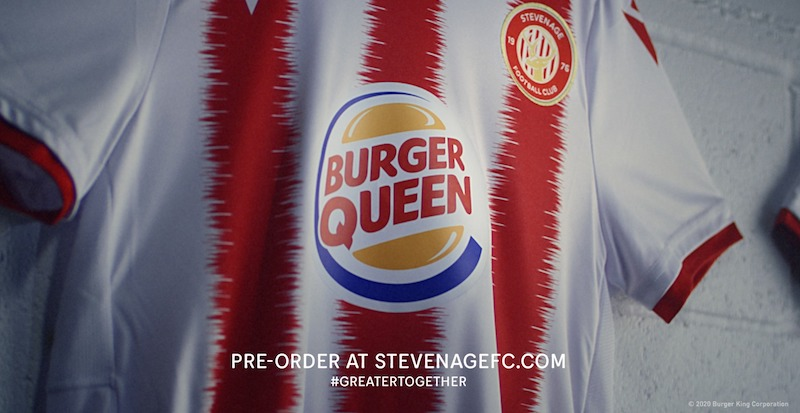 Maillot Burger Queen Stevenage